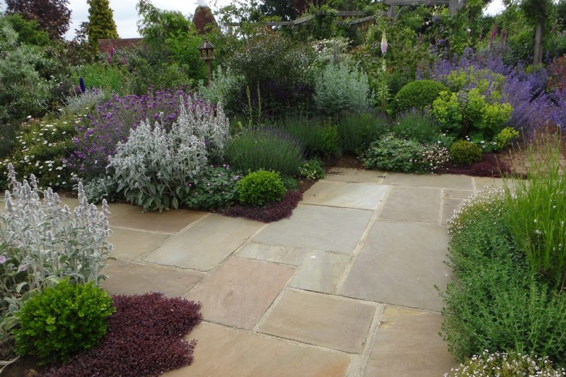 Yorkshire paving, hard landscaping of garden patios and stone terraces