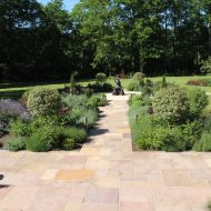 Large garden paving, patio and terrace installation in Kent