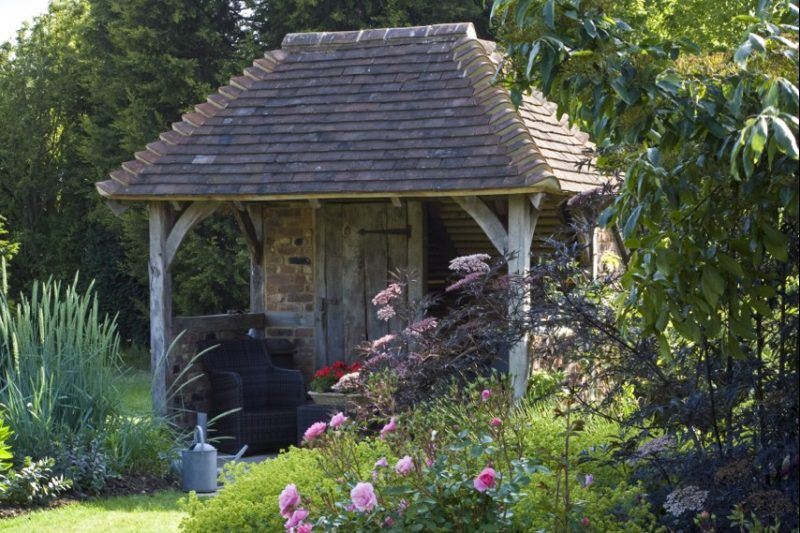 Oak frame summerhouse