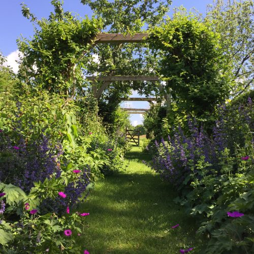garden oak frame pergola traditional english country garden