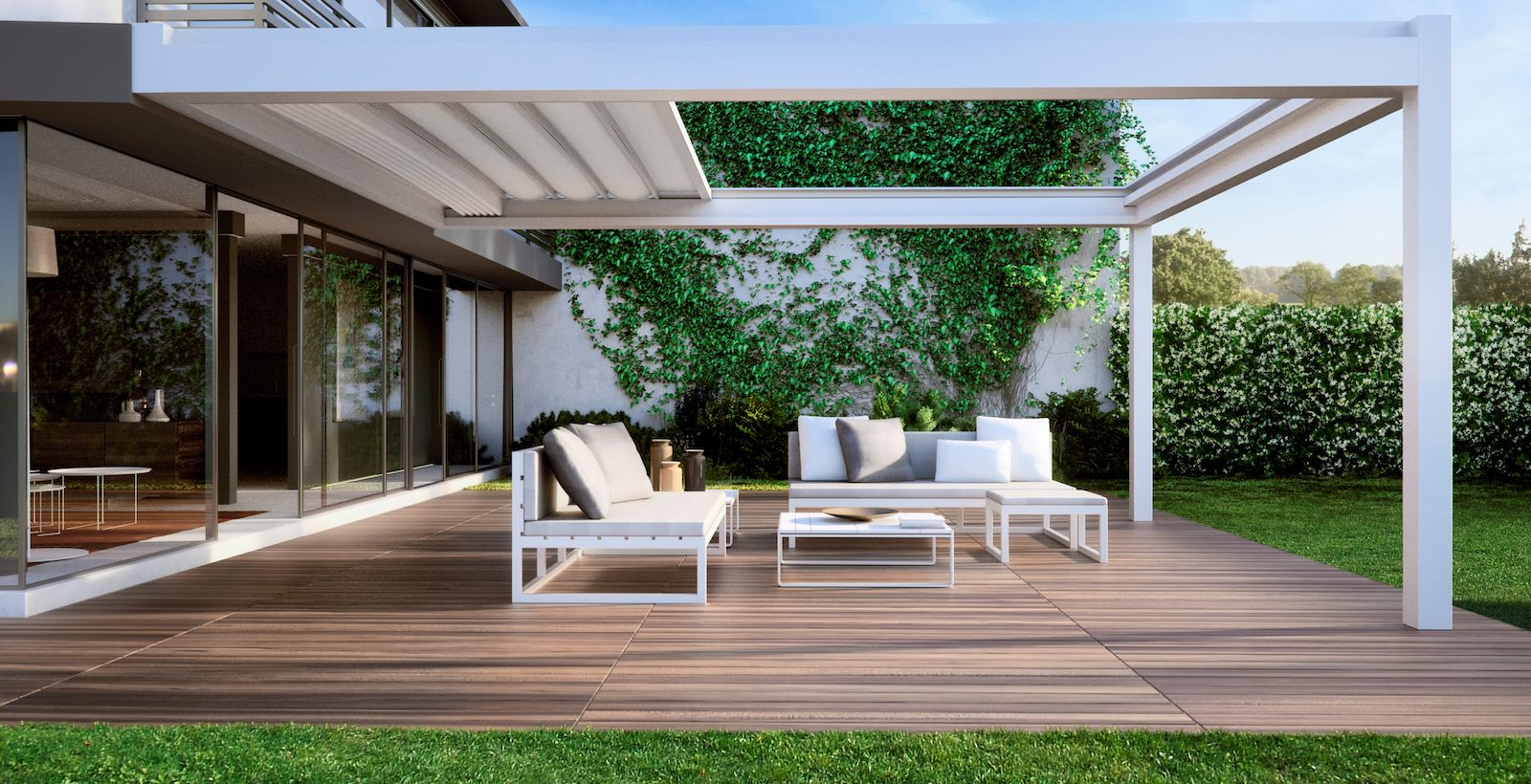 Lean to sheltered Pergola