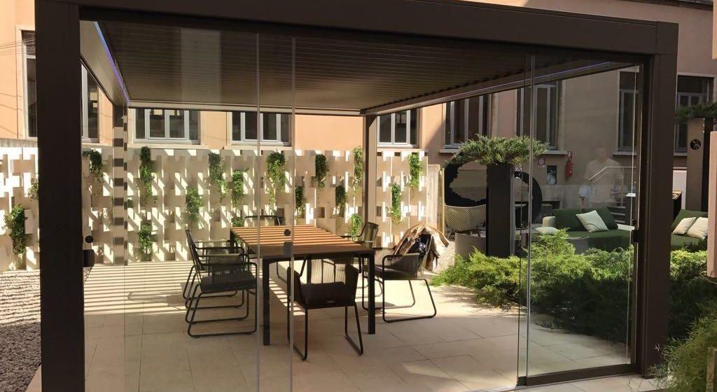 home office pergola