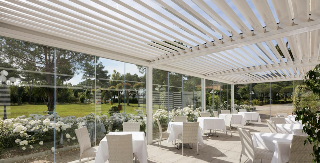 restaurant pergola increase indoor space