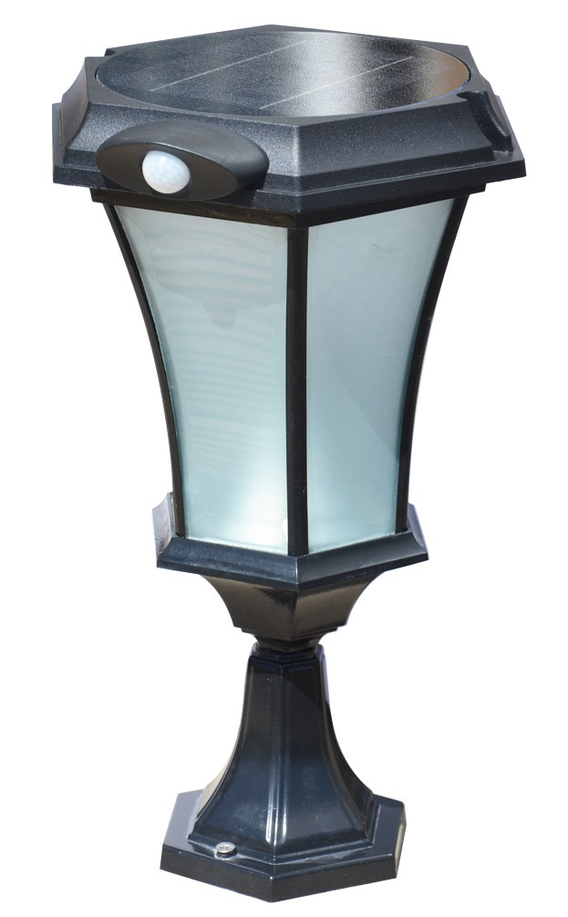 Solamon Professional Solar Pedestal Light With Pir