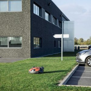 automatic mower for business grounds factilities and easy maintenance