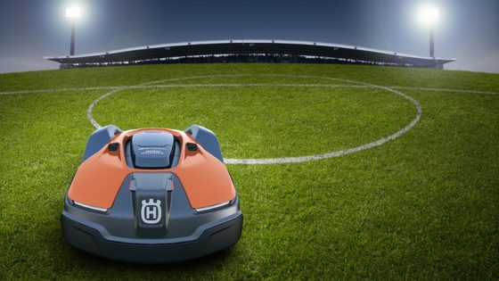 robotic lawn mowers for professional sports clubs teams and pitches